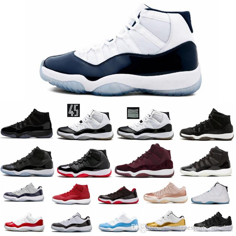 49210c00c490e4 Wholesale 2019 New 11 11s Platinum Tint Space Jam Gym red Mens Basketball  shoes XI 11S sports Basketball Shoes size 40-47