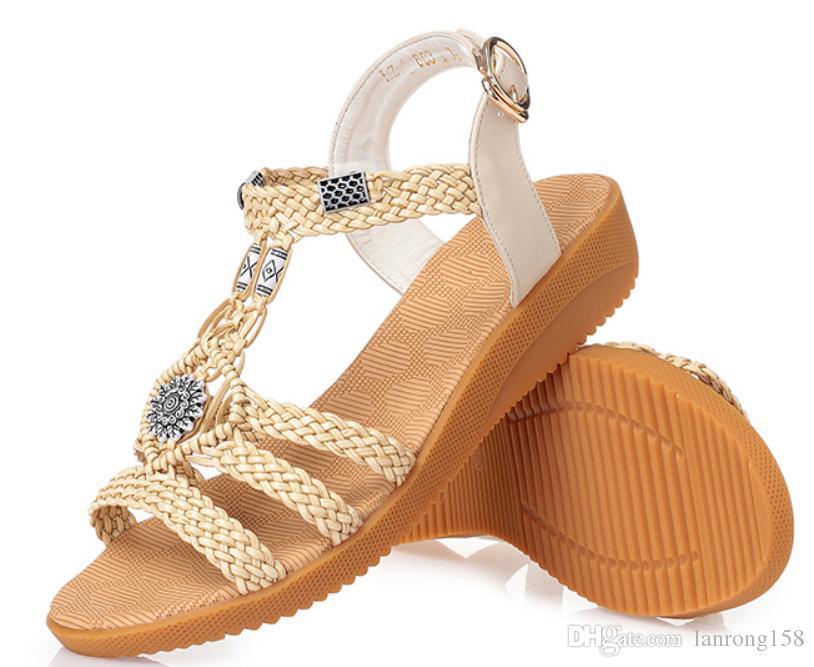 2019 sandales pour femmes en été avec nouveau style talon moyen talon talon @ 11