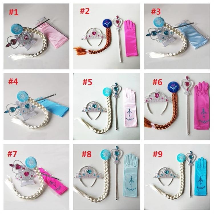 Tatil Parti prenses eldiven taç sihirli değnek kırbaç besleyen narin süslemeleri Prenses Suit T3I5140 dört parçalı set