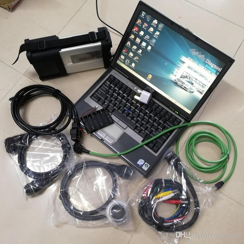 V09/2020 MB Star C5 SD C5 with DAS DTS 320GB HDD for Mercedes Cars and Trucks installed on laptop D630 4G