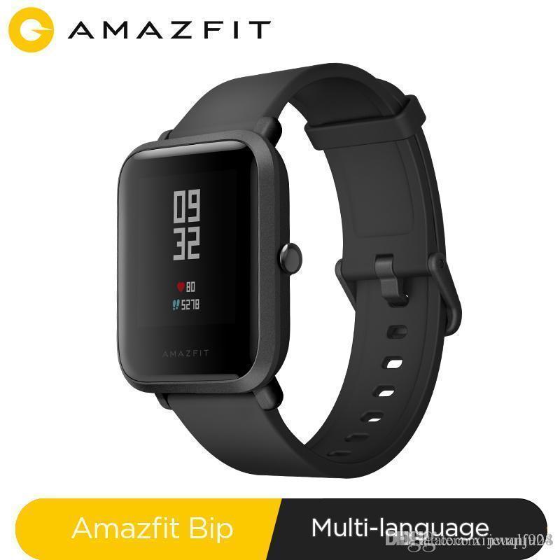 Huami Amazfit Бип Смарт Часы Bluetooth GPS Спортивные Пульсомер IP68 Водонепроницаемый вызов Напоминание MiFit APP вибросигнал