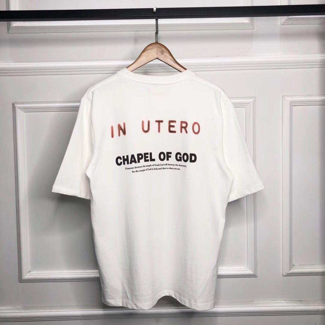 New FOG VINTAGE vintage co-branded NIRVAVA KANYE Kanye Engel lässig Kurzarm-T-Shirt