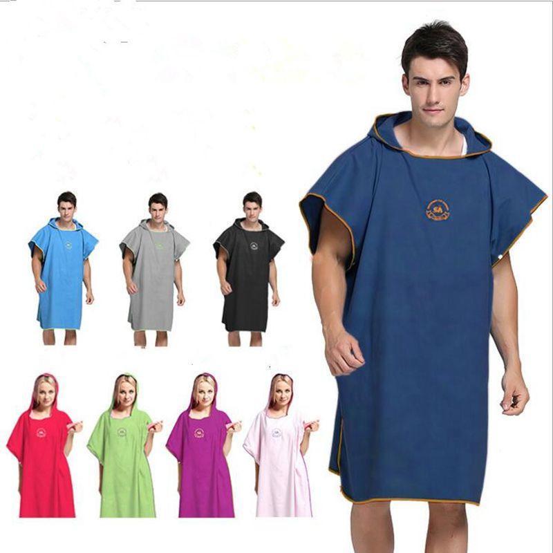De secado rápido Albornoz mágica de toallas de baño SPA ducha Batas Adultos Niños abrigo del cuerpo Albornoz Albornoz playa vestido usable mágica Ropa TLZYQ338