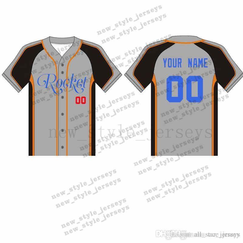 46MAN personalizzato baseball maglie traspirante 2019 Uomini giovani asciutto rapido blu bianca cucita M-XXXL verde Baseball Maglie