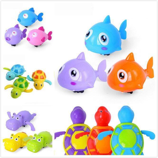 Única Venda Bonito Dos Desenhos Animados Animal Tartaruga Clássico Bebê Brinquedo Da Água Infantil Tartaruga Swim-up Cadeia Clockwork Crianças Brinquedos de Banho de Praia