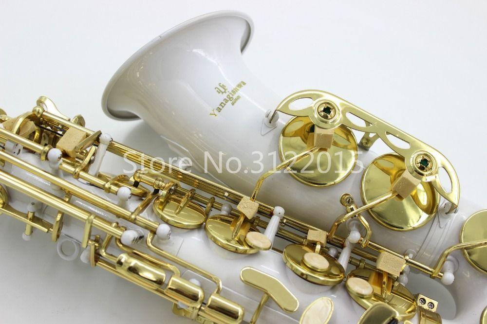 YANAGISAWA A-992 Альт Eb Tune Saxophone Изысканный Резной Уникальный Белый E Плоский Латунь Саксофон Бесплатная Доставка Музыкальный Инструмент с Чехлом