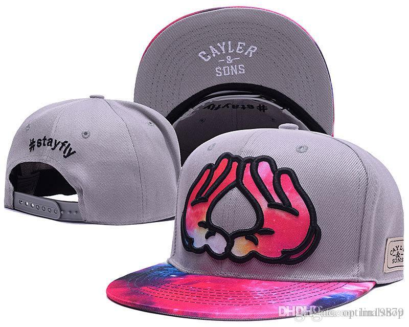 Cayler Sons rosa #stay voar Sky Baseball Caps ossos Nova chegada gorras para homens e mulheres de alta qualidade hip hop ajustáveis Snapback