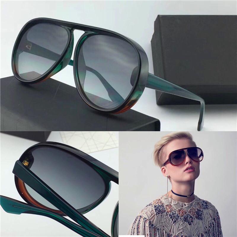Las gafas de sol de diseñador de lujo en el marco del piloto cuentan con material de tablero popular simple estilo generoso de calidad superior uv400 gafas de protección