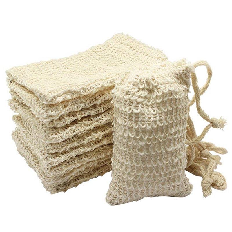 Schäumende Net Ramie Exfoliator Dusche Sponge Beutel Blister Mesh-Soap Saver Bag Schäumende Massage Handgemachte Net Bath