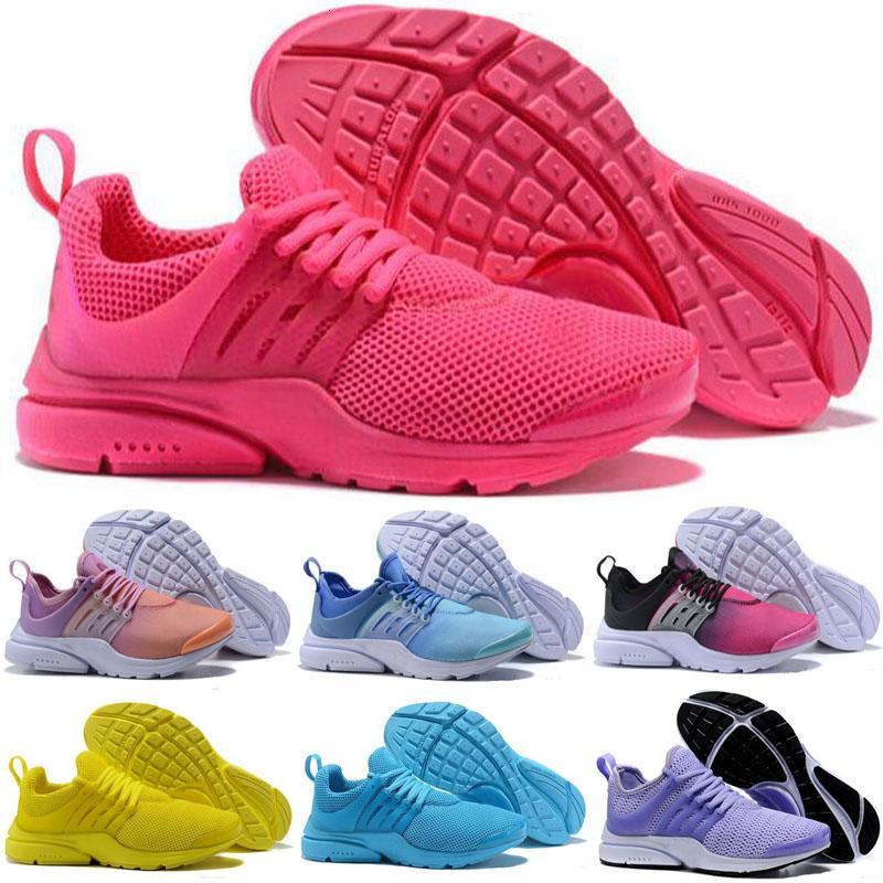 La migliore qualità presti 5 V Scarpe da corsa Donne Presto Ultra BR QS Giallo Rosa Nero Oreo Outdoor Sports Fashion Jogging scarpe da tennis