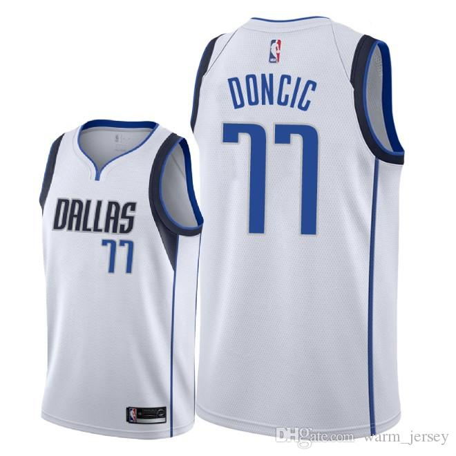 70fe3a031718 New 2019 Men Dirk Nowitzki Dallas Luka Doncic Jersey Maverick Fanatics  Branded Fast Break Dennis Smith Jersey White S XXXL Teet Shirts Tee Shirts  For Sale ...