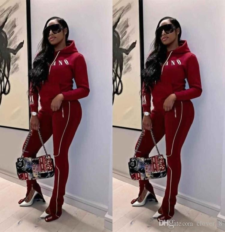 Women tracksuit pullover + leggings outfits hoodie sportswear tops+pants casual sports suit fall new hot selling womens clothing klw3231