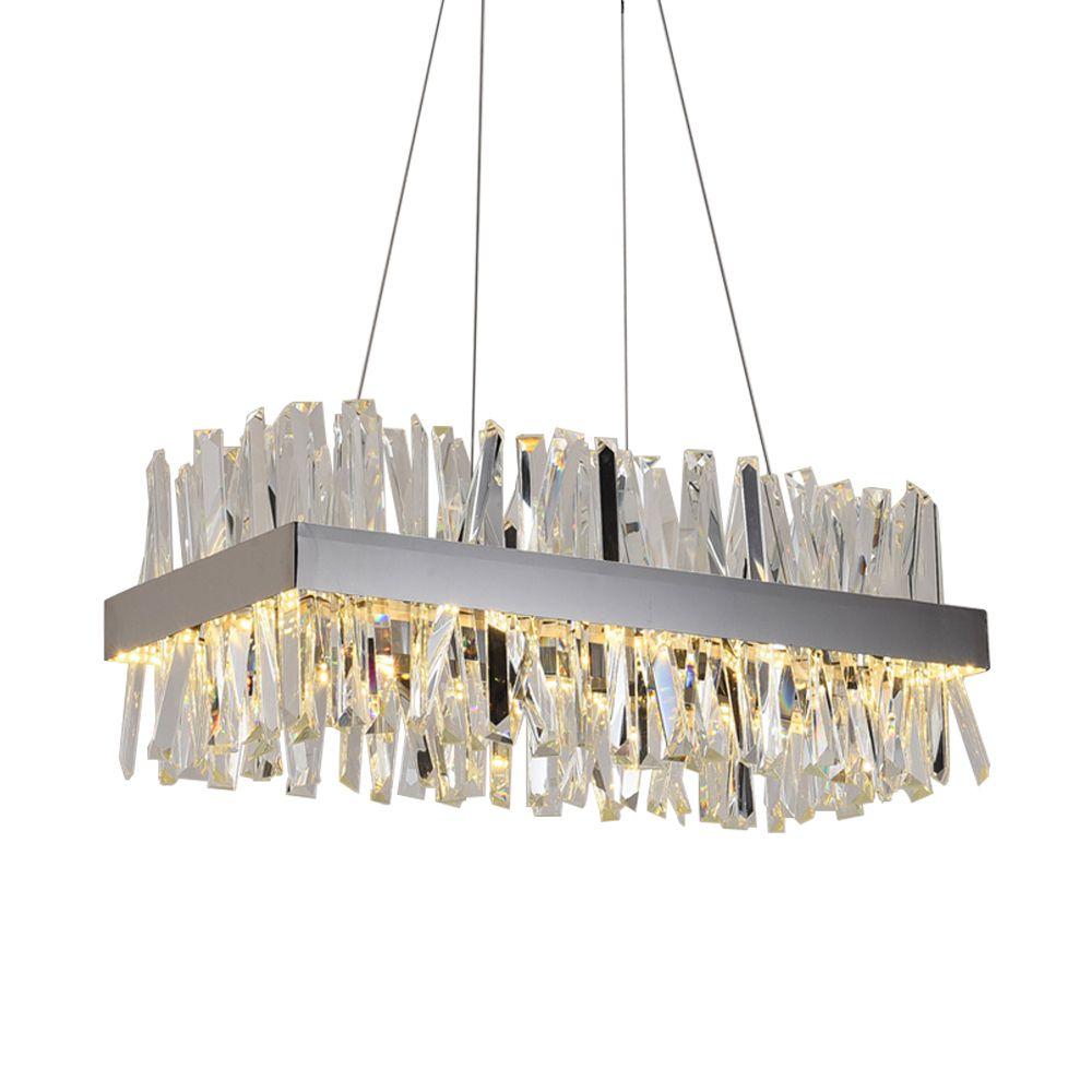 الفاخرة مستطيل كريستال الثريا لغرفة الطعام مطبخ جزيرة مصابيح معلقة الحديثة led الثريات تركيبات الإضاءة الداخلية