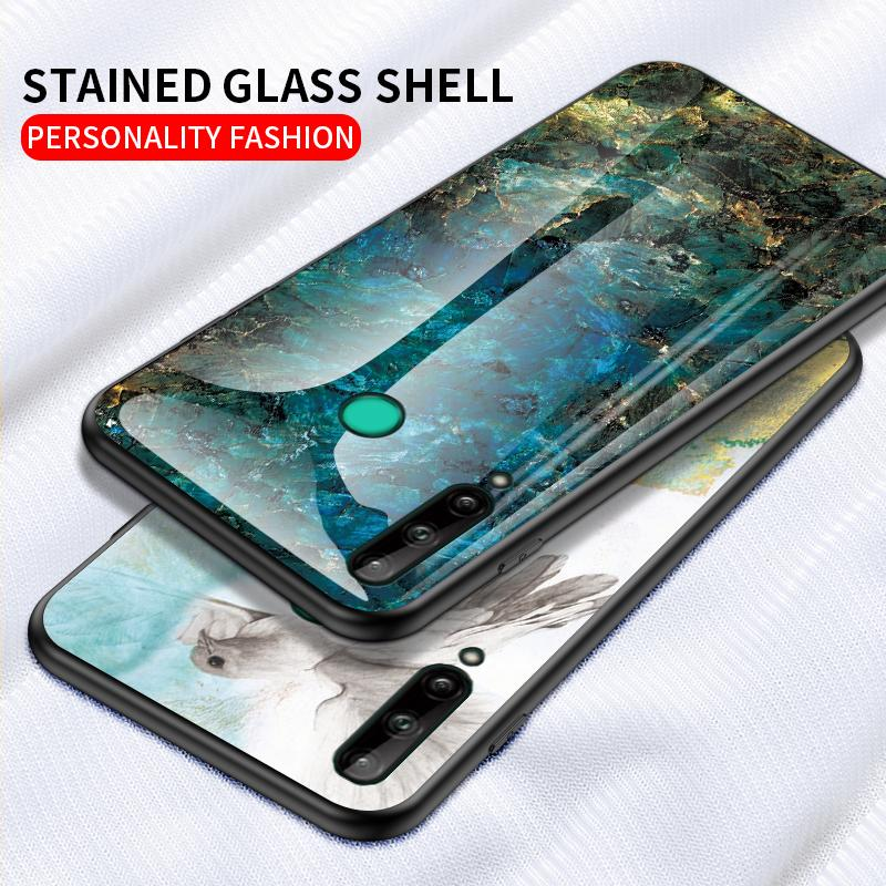 MarbleTempered Стекло телефон чехол для Huawei P40pro Mate30pro Mate20X 5G Витраж Shell Для P40Lite Y6P Honor Х10 Soft TPU Край