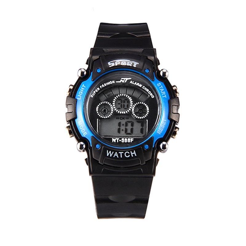 Neue Art und Weise Junge Mädchen Kinder Kinder Studenten Outdoor-Sport-Digitaluhr elektronisches Licht Doppel Farben Geschenk Uhren up