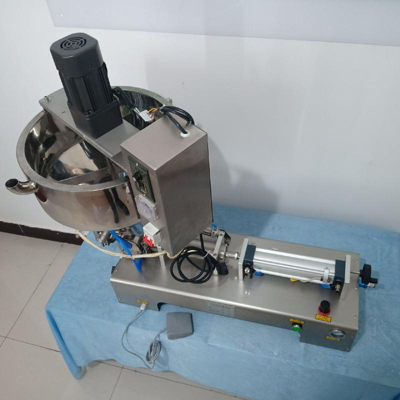 Heating mixing type filling machine for filling tomato sauce peanut butter cream chili sauce olive oil Single head filling machine
