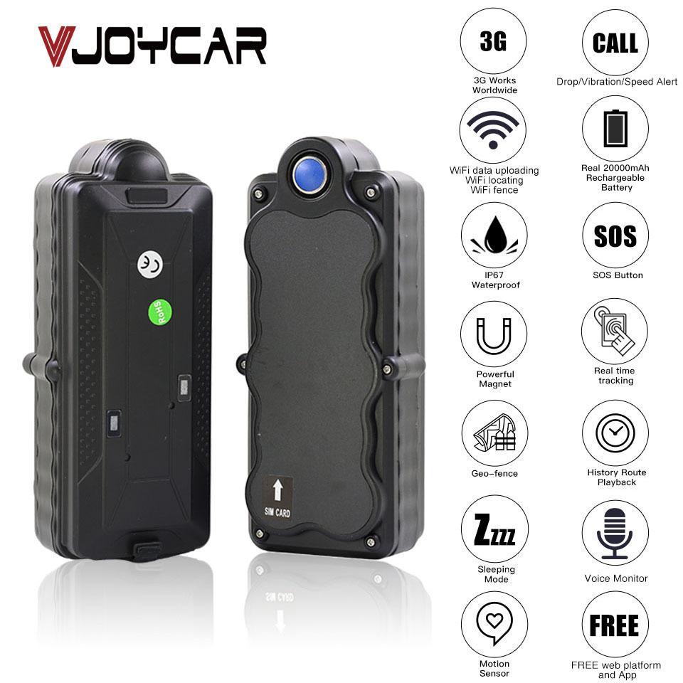4G 3G GPS Tracker voiture TK20G Aimant étanche Portable 20000mAh batterie WiFi gratuit Mouvement Goutte Alarme Web APP GSM contrôle vocal