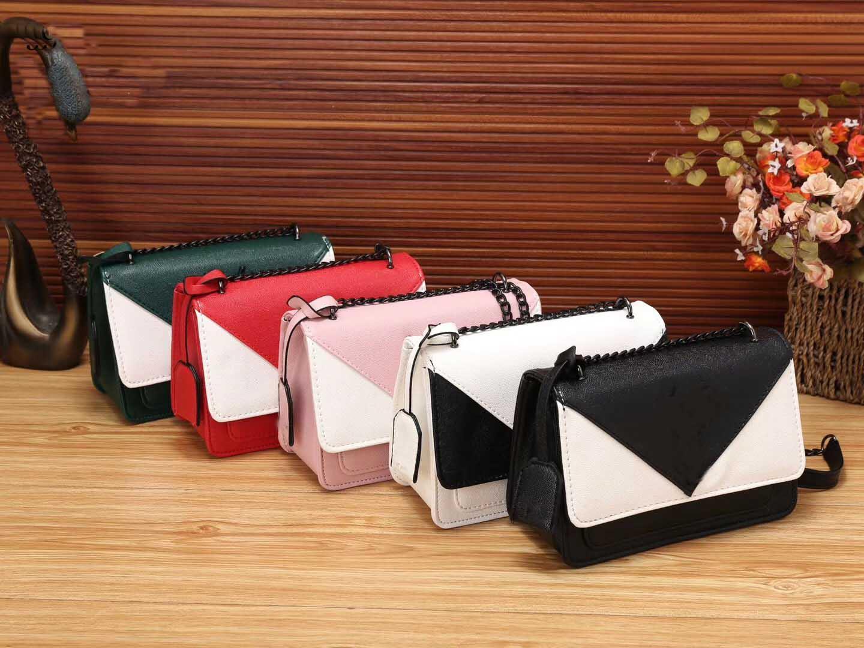 De lujo del diseñador del bolso 2020 de la manera caliente Dos-color de los cordones cadena del hombro Messenger Bag