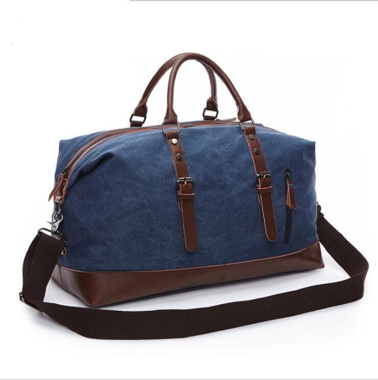 HBP Große Größe 54cm Leinwand Duffel Taschen Frauen Männer Reise Gepäcktasche