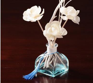 الحد الأدنى الحديثة زخرفة الزجاج الشفاف إناء سطح المكتب كونترتوب غرفة نوم صغيرة الروائح زهرة الديكورات المنزلية