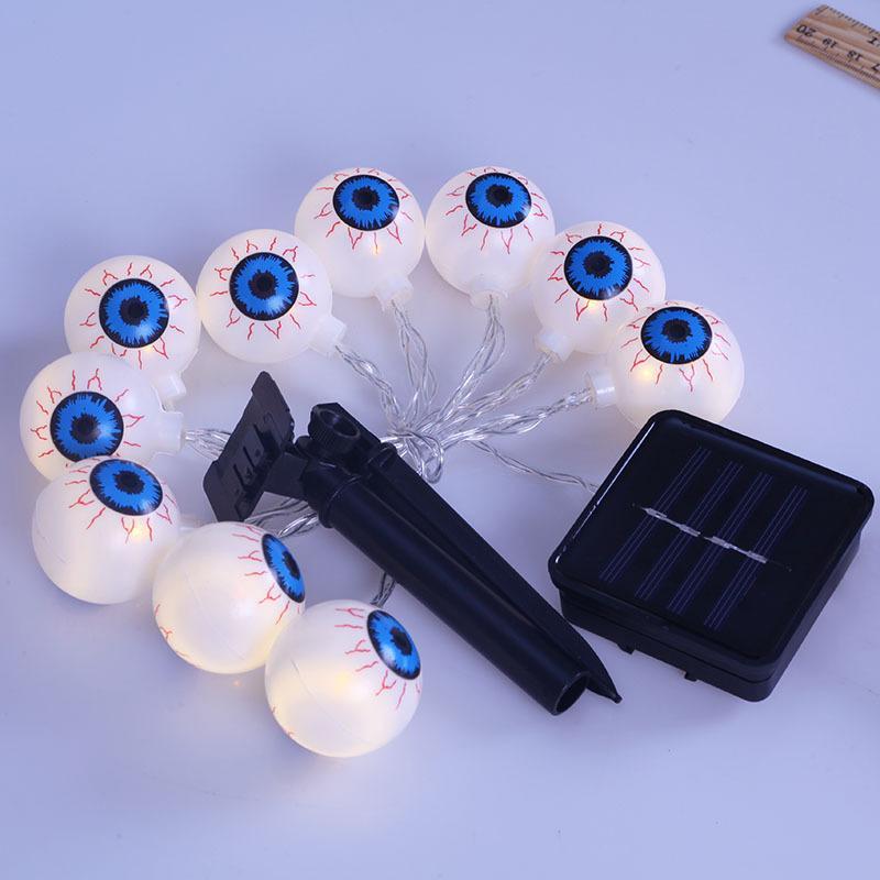 Водонепроницаемый Солнечный Хэллоуин украшения призрак глаза Фея свет солнечный питание Хэллоуин огни открытый DIY украсить пластиковый материал оболочки
