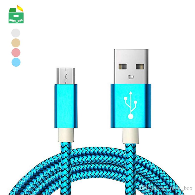 TYPE C Cable Fast Charger 2.5A Braid Nylon Micro USB Charging Cables Data Line for Samsung Huawei Xiaomi Android