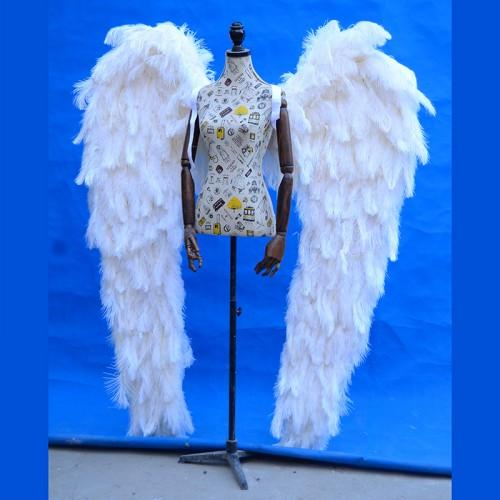 هايت نوعية النعامة الفاخرة ريشة أجنحة الملاك أجنحة خرافية الزفاف الأبيض الجميل الكبير الحدث ديكو الدعائم الشحن المجاني