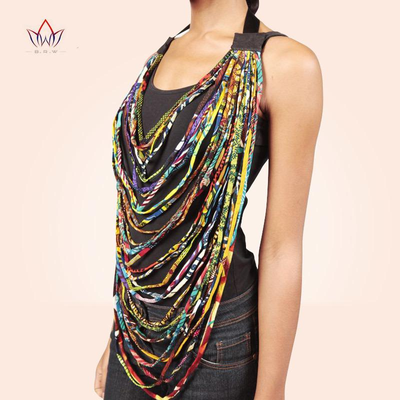 2019 African Wax Print Choker Necklaces For Women Body Jewelry African Cotton Multi-layer Rope Necklace Ankara Jewelry Wya022 J190530