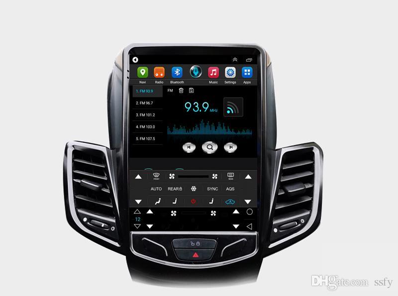 أسود تسلا الشاشة العمودية سيارة الوسائط المتعددة GPS راديو ستيريو الصوت 4G واي فاي لفورد فييستا فييستا ST 2009-2015