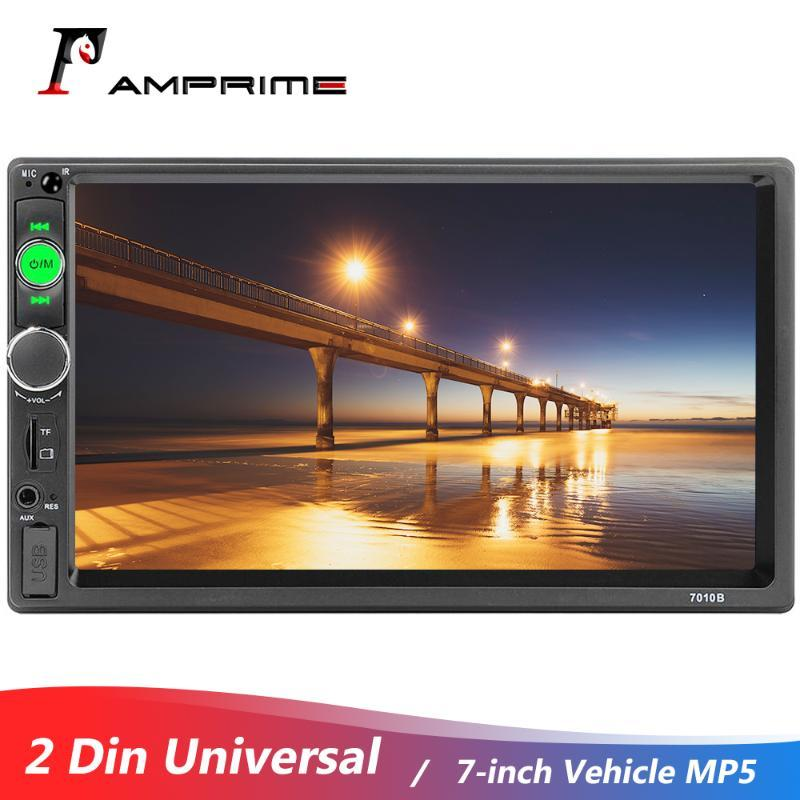 AMPrime 2 Din voiture Radio 7 pouces MP5 écran tactile Affichage numérique Bluetooth USB miroir Autoradio dvd voiture Radio Universal