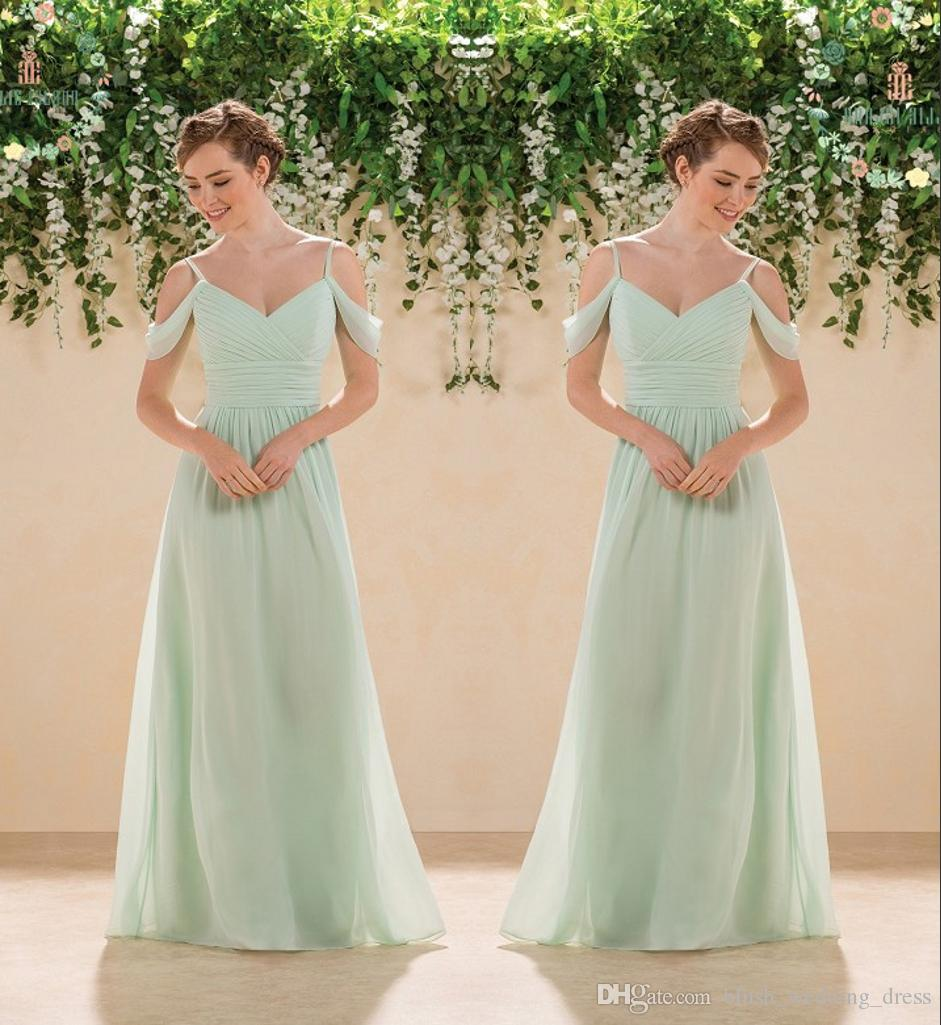 High Quality Mint Green Bridesmaid Dresses A-Line Chiffon Maid Of Honor Dress Wedding Guest Gown Custom Made Plus Size