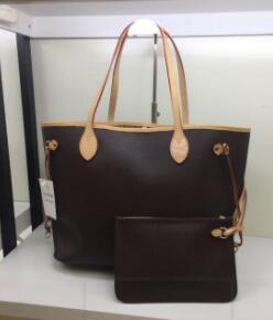 20 تصميم 2219 حقائب اليد الجلدية الإناث حزمة حقيبة يد الأم فاتورة الشحن حقيبة الكتف السيدات مركب + حقيبة صغيرة N51106 M40157