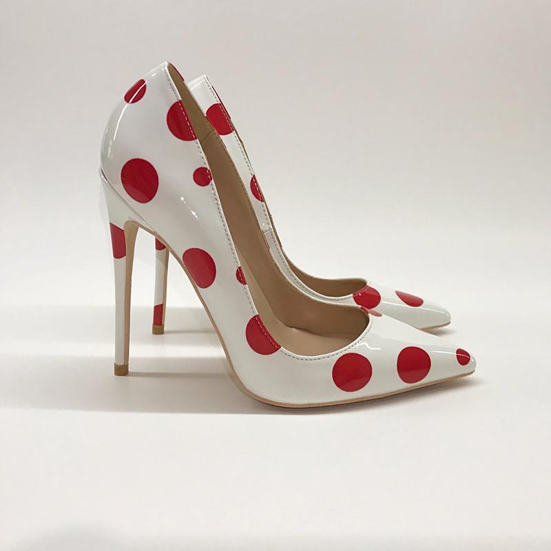 2020 Бесплатная доставка Свадебные леди женщин белый малахит лакированной кожи Poined Toes высоких каблуках каблуки стилет дизайнер каблуки обуви НАСОСЫ 12см