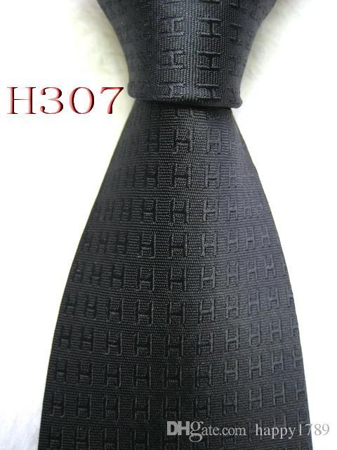 HH5 # 100% Jacquard De Seda Artesanal Gravata dos homens Gravata