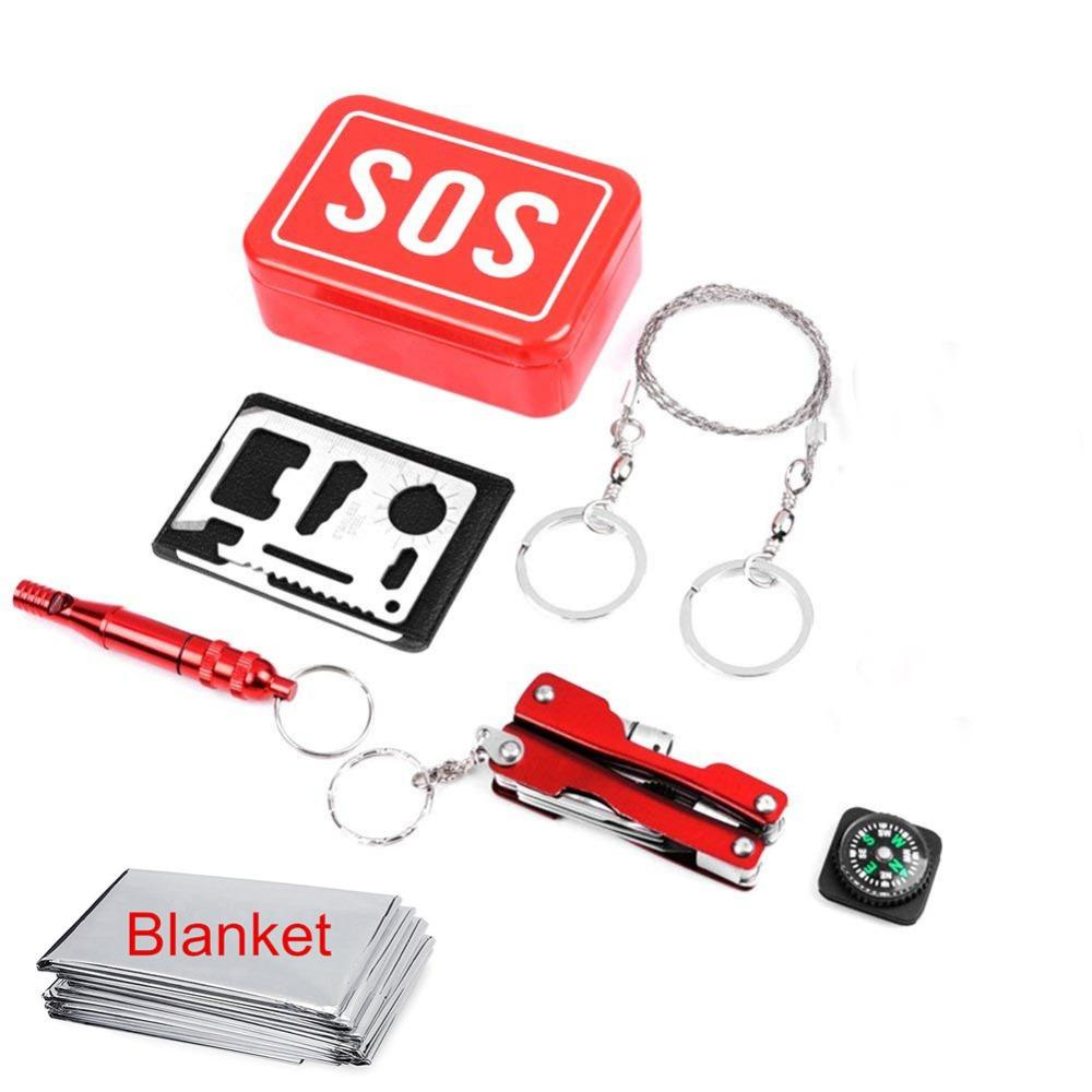 Survival Equipment Emergency survival kit Outdoor Camping Tools self defense camp SOS equipment for outdoor tourism tool (13)