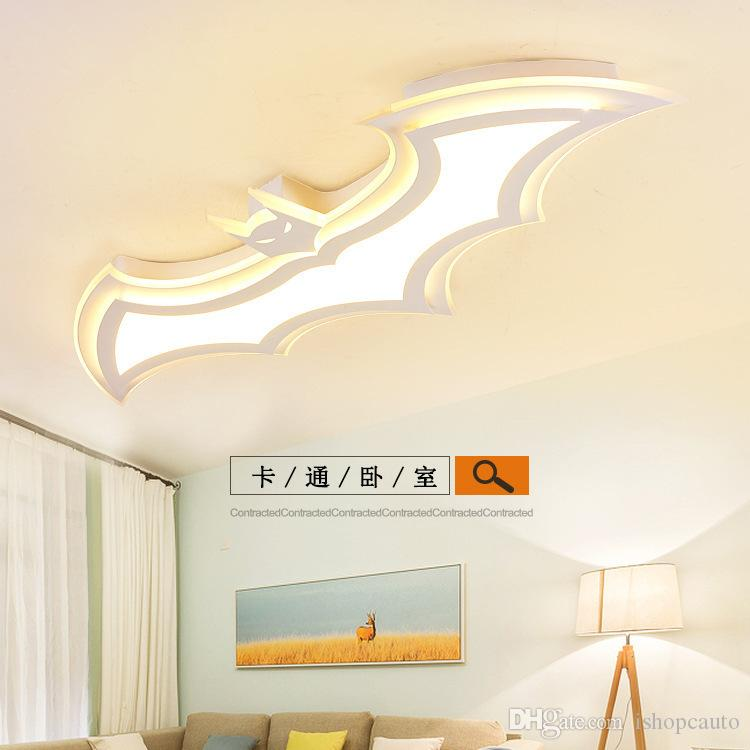 stanza protezione degli occhi creativa per bambini illuminazione moderna e minimalista camera da letto LED plafoniera asilo personalità Illuminazione pipistrello