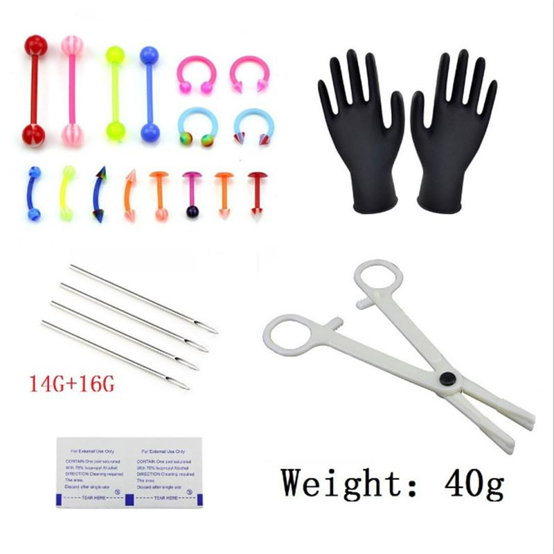 25pcs/set Naval Needles Kit Sex Belly Tongue Eyebrow Nipple Lip Nose Disposable Body Piercing Jewelry Tool Sets Piercing Jewelry