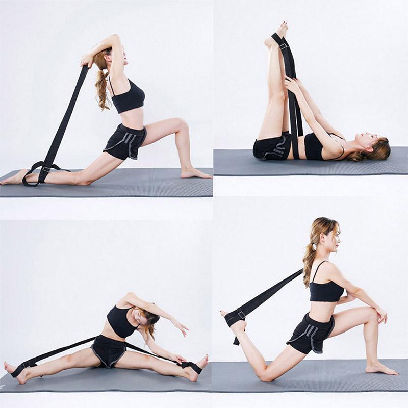 Flexibilité intérieur Extention des jambes Brancard Sangle pour le ballet de danse Cheer Gymnastique Entraîneur Yoga Flexibilité jambe extensible Ceinture