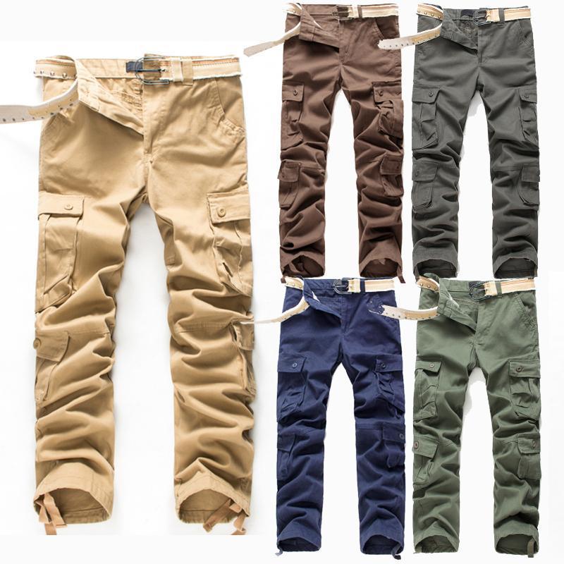 Mens Cargo Pants Khaki-Hose im Freien taktischen Hosen Herren Multi Taschen-Baumwollhose-Qualitäts-Plus Size
