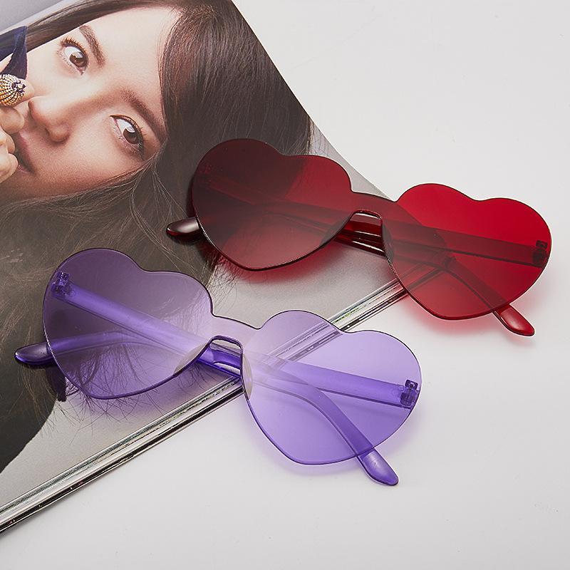 óculos escuros de grife das senhoras bonito doces Sunglasse Mulheres Peach Coração mulheres em forma de luxo designer óculos de sol