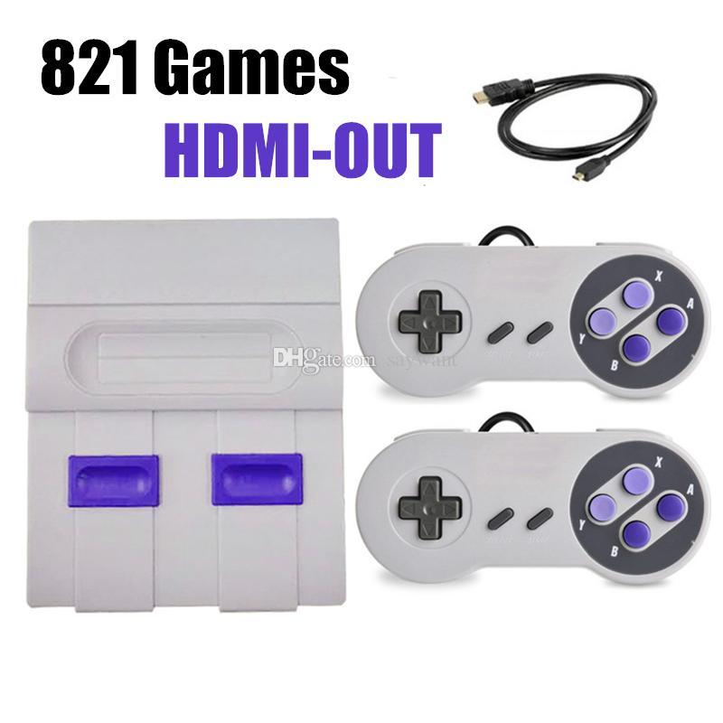 HDMI Out TV 821 Consola de juegos Video Juegos portátiles para consolas de juegos SFC NES Venta caliente Niños Familia Juego de máquina Machineree Envío de DHL