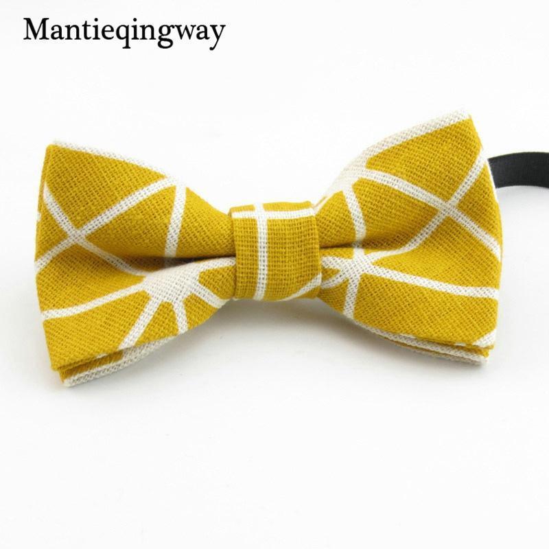 Mantieqingway enfants Bow Tie Linen costumes de mariage + Coton Bowtie pour les garçons bébé Bowties Gravata de Vestidos enfant Bow Tie