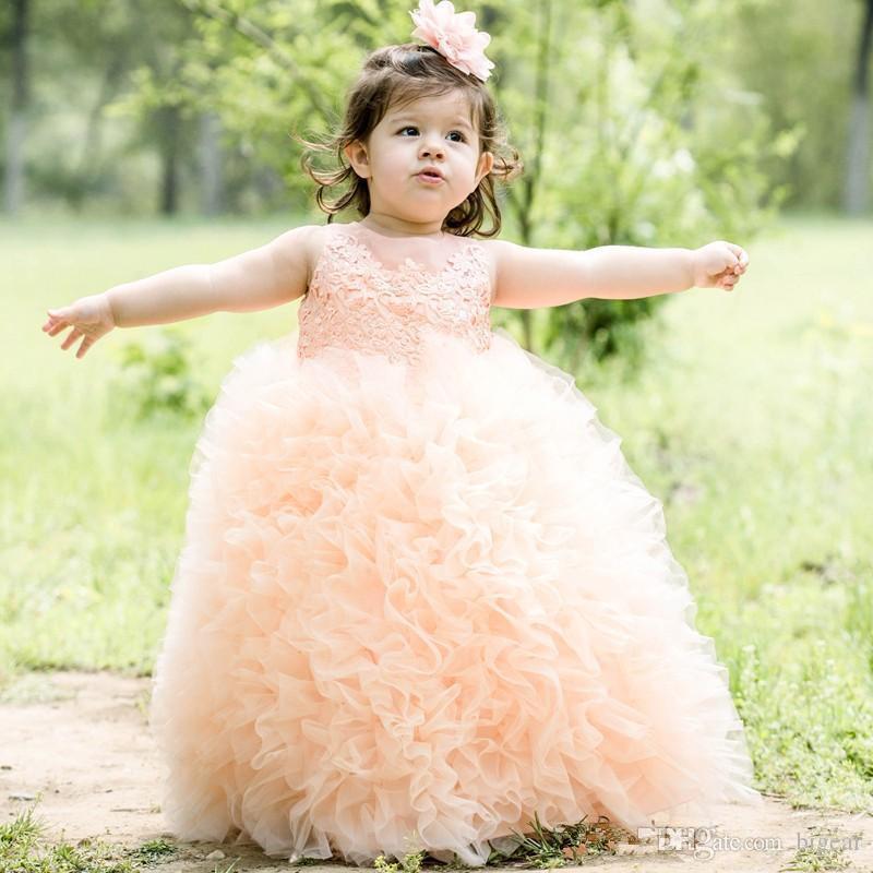 Прекрасные пачки и платья для девочек-цветочков Кружевные рюши на пуговицах Назад Детские театрализованные платья Платья для вечеринок на день рождения