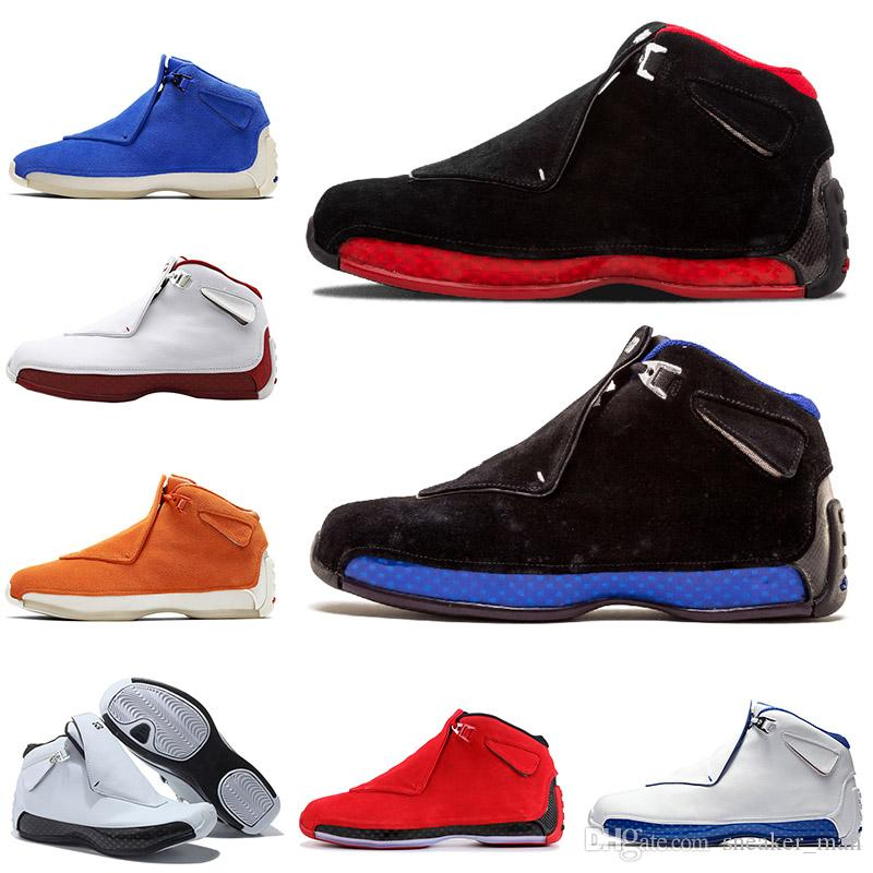 nike air jordan retro 18  18s Mens scarpe da basket Olimpiadi Nero Reale Jumpman XVIII Bred Definizione Momenti Cool Grey Sport Trainers Designer