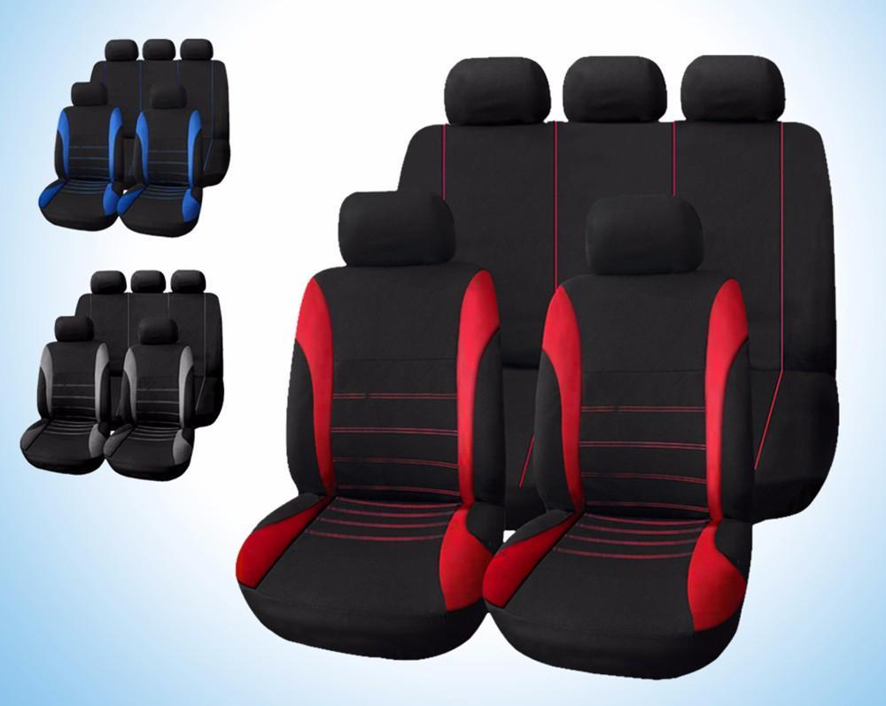عالمي غطاء مقعد سيارة 9 مجموعة كاملة يغطي ل crossovers سيدان السيارات التصميم الداخلي الديكور حماية جودة عالية شحن مجاني