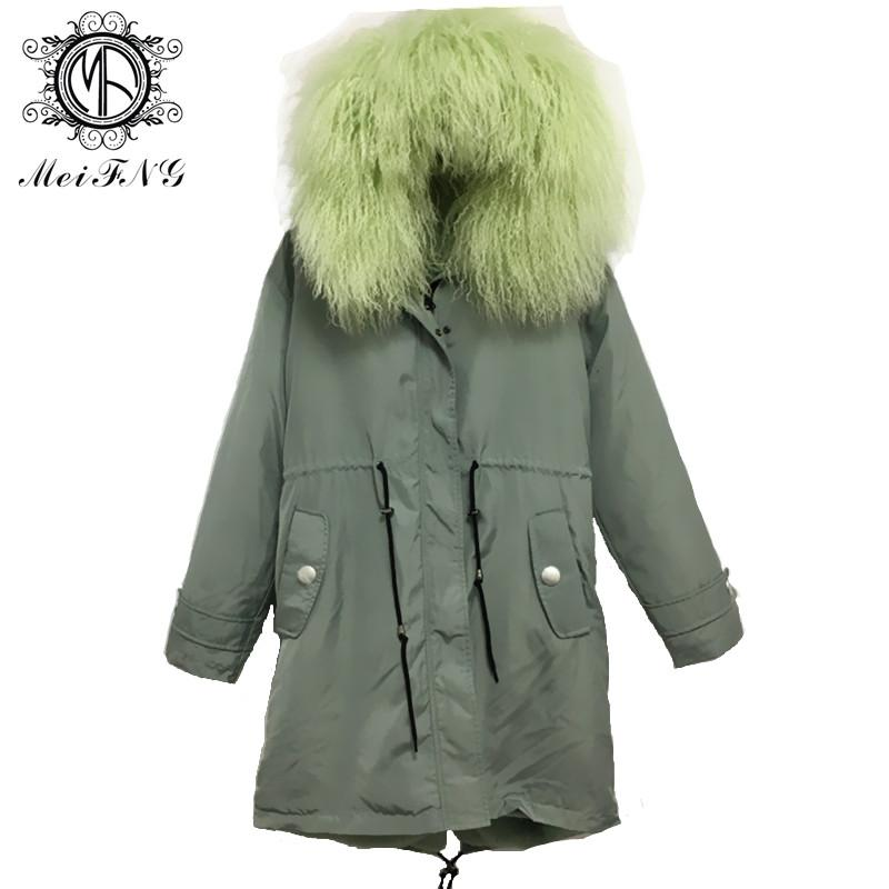 Color Fur Parka