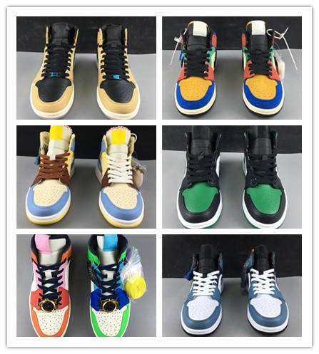 2020 الجملة الجديدة 1 0G منتصف لا يعرف الخوف WMNS الرجال أحذية كرة السلة مصمم 1s أحذية رياضية في الهواء الطلق المدربين جودة عالية مقاس 36-46