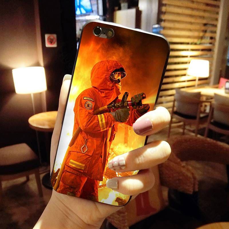 2020 Feuerwehrmann Helden Feuerwehrmann Telefon-Kasten für iPhone 11 pro XS MAX 8 7 6 6S Plus X 5 5S SE XR Fall Großhandel