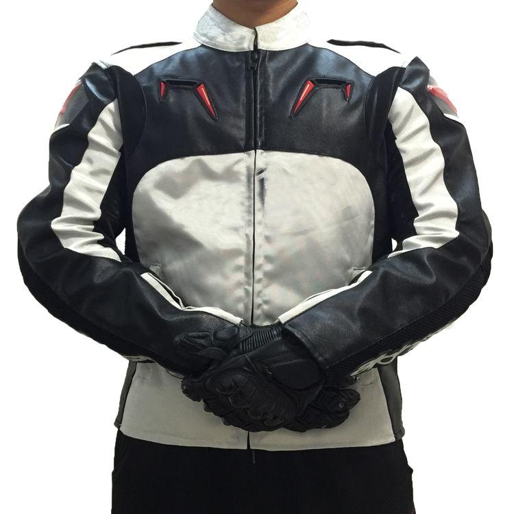 Motocross PU Oxfrod corre rivestimento del motociclo Street Moto Rider Grey giacche con Protector