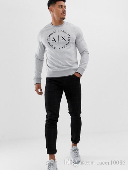 M-09 # Otoño mujeres / hombres cosa Sudaderas con capucha jersey Sudadera con capucha Suéter de alta calidad marca chándal Tops Sudaderas de invierno Bla blanco